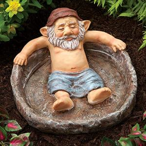 Bits and Pieces - Relaxing Gnome Pool Garden Sculpture