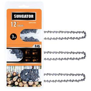 """SUNGATOR 3-Pack 12 Inch Chainsaw Chain , 3/8"""" LP Pitch - .043"""" Gauge"""