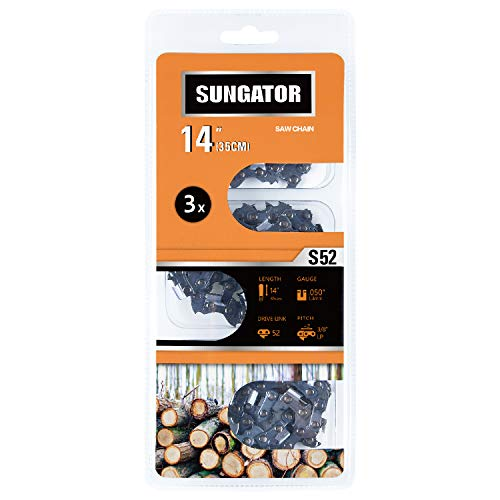 SUNGATOR 3-Pack 14 Inch Chainsaw Chain