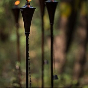 Deco Home (Set of 4), 64-inch Outdoor Garden Flame Conical Torch Brown