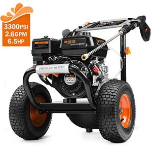 TACKLIFE Gas Pressure Washer, 3300 PSI 2.6 GPM with 6.5 HP
