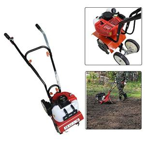 SHZICMY Tiller Cultivator, Air-Cooled 2-Stroke 52CC Soil Petrol Gas Powered Mini