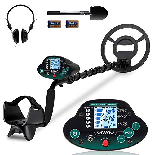 OMMO Metal Detector for Adults and Kids, High Accuracy Adjustable Waterproof