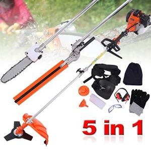 PanelTech 5 in 1 Brush Cutter Hedge Trimmer Pruning Chainsaw Grass Trimmer