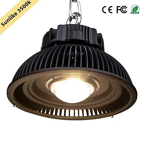285W COB LED Grow Light Bulb, CANAGROW Sunlike 3500K Full Spectrum