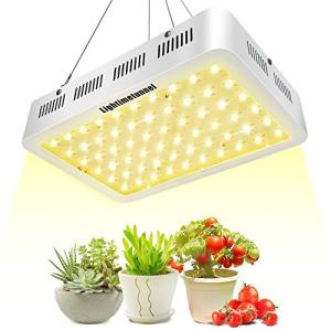 600W LED Grow Light, Lightimetunnel 3500K Full Spectrum Plant Light Bulbs