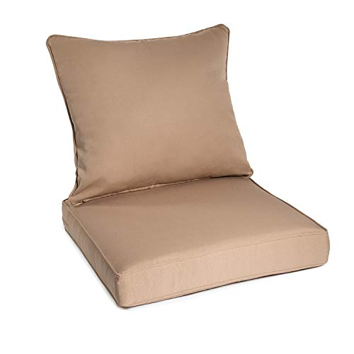 Art Leon Outdoor/Indoor Patio Deep Seat Chair Cushion Set