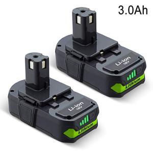 2Pack 3000mah Ryobi 18V Lithium Replacement for Ryobi 18 Volt Lithium Battery