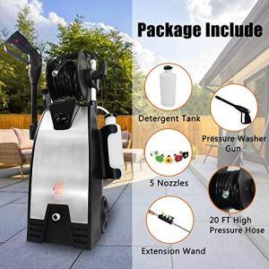 EDOU 3200 Max PSI 2.0 GPM Electric Pressure Washer,Including Power Washer Gun