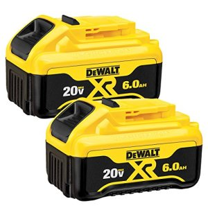 DEWALT 20V MAX Battery, Premium 6.0Ah Double Pack