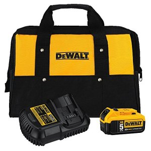 DEWALT 20V MAX Battery and Charger Kit with Bag, 5.0Ah