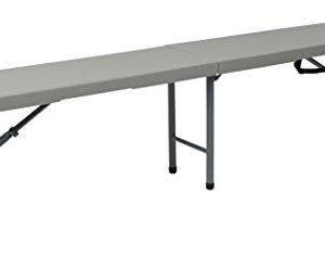 Office Star PC-15F Outdoor Bench, 6', White