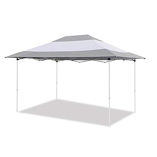 Z-Shade Prestige 14 x 10 Foot Instant Canopy Outdoor Patio Shelter, Grey & White