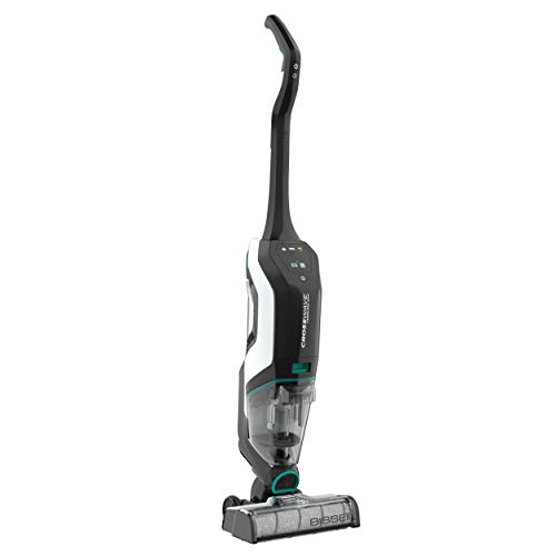 BISSELL, 2554A CrossWave Cordless Max All in One Wet-Dry Vacuum Cleaner and Mop for Hard Floors and Area Rugs,Black/Pearl White with Electric Blue Accents