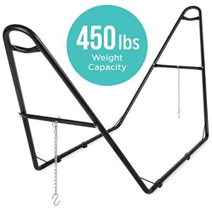 Best Choice Products Adjustable Universal Weather-Resistant Steel Hammock Stand for 9-14ft Hammocks w/Powder-Coated Finish and Hanging Hooks