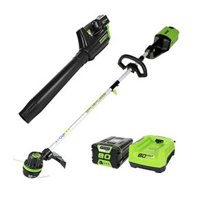 Greenworks PRO 80V Cordless Brushless String Trimmer + Leaf Blower Combo