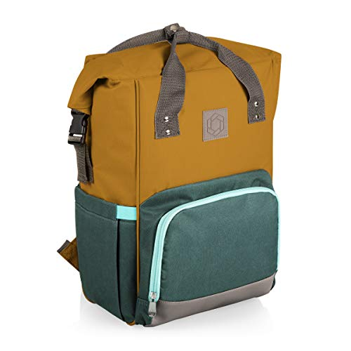 ONIVA - a Picnic Time brand OTG Roll-Top Cooler Backpack, Mustard