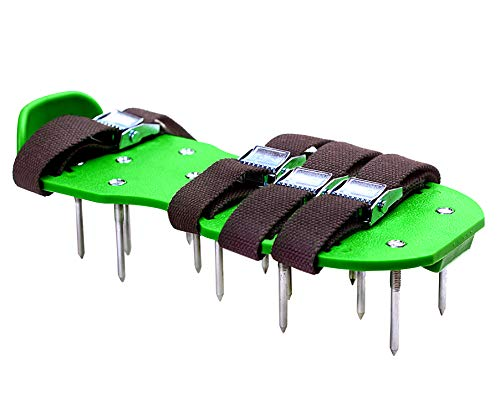 6.8 CM Spikes - Lawn Aerator Spike Shoes with Heavy Duty Metal Buckles, 4 Adjustable Straps and Sharper Spikes for Effective Soil Aeration for Greener Yard, 6.8 CM ( About 2.7 inch ) Spikes