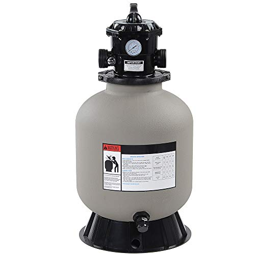 """LAGarden 16"""" Above Inground Swimming Pool Sand Filter System with 6 Way Valve and Stand Fit 1/2HP 3/4HP Water Pump"""