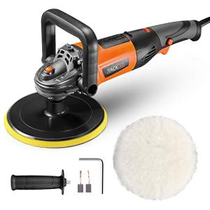 Polisher, TACKLIFE 7-inch Buffer Polisher, 6 Variable Speeds from 1500~3500 RPM, D-Handle, Wool disc, Ideal for Car Polishing, Furniture/Wood Polishing, Paint/Rust Removal - PPGJ05A
