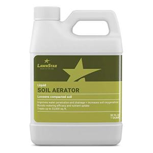 Liquid Lawn Aerator (32oz) - Loosens & Conditions Compacted Soil with Humic Fulvic & Amino Acids - Best Alternative to Core and Mechanical Aeration - for All Grass Types, All Year Round