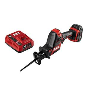 SKIL PWRCore 12 Brushless 12V Compact Reciprocating Saw, Includes 2.0Ah Lithium Battery and PWRJump Charger - RS582802