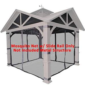 APEX GARDEN Replacement Mosquito Netting with Slider Rail for Allen + roth Model #GF-18S112B (Screen NET ONLY)