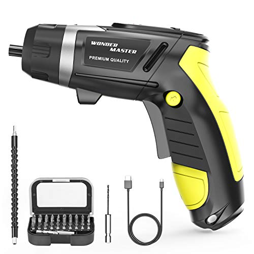 """4.8V High Screwdriver 1/4"""" Multi-Functional Electric Screwdriver and Screw Bits Set Lithium Electric Dril Cordless Hand Drill Charging Screwdriver Screw Power Gun and a Built-In LED Light for Home DIY"""