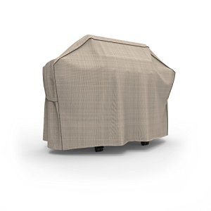 "Budge P8006PM1 English Garden BBQ Grill Cover Heavy Duty and Waterproof, 70"" Wide, Tan Tweed"