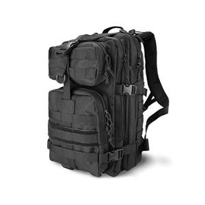 ProCase Military Tactical Backpack, 35L Large Capacity Rucksacks 2 Day Army Assault Pack Go Bag for Hunting, Trekking, Camping and Other Outdoor Activities -Black