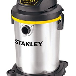 Stanley 4 Gallon Wet Dry Vacuum , 4 Peak HP Stainless Steel 3 in 1 Shop Vac, Multifunctional Shop Vacuum W/ 4 Horsepower Motor for Job Site,Garage,Basement,Van,Workshop