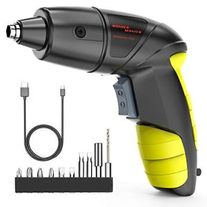 "3.6V Screwdriver 1/4"" Multi-Functional Electric Screwdriver with Screw Bits Set Rechargeable Battery Cordless Screwdriver Screw Power Gun and a Built-In LED Light for Home DIY Furniture Installation"