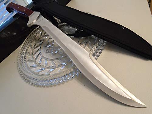 "Tomahawk Big Bounty Full Tang Machete Sword Hunting Knife Ultra Sharp Fixed Blade Knife 440 Ss 21 1/2"" Oa Xl1552 Camping Survival Pocket Knives + Free eBook by Survival Steel"