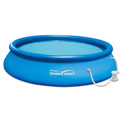 Summer Waves 15ft x 36in Quick Set Inflatable Above Ground Swimming Pool with Filter Pump