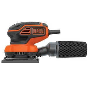 BLACK+DECKER Electric Sander, 1/4-Inch Sheet, Orbital (BDEQS300)