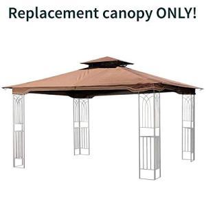 Sunjoy Replacement Gazebo Canopy for 10 x 12 Regency II Patio Gazebo, Brown