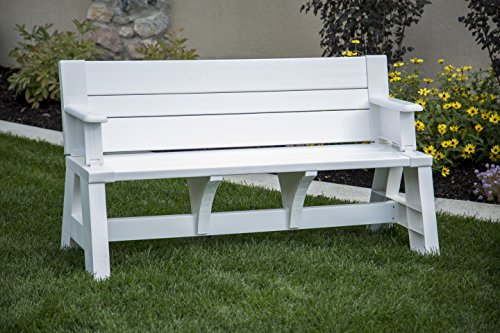 Premiere Products 5RCAT Resin Convert-A-Bench,White