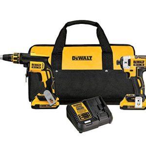 DEWALT 20V MAX XR Drywall Screw Gun & Impact Driver Kit, 2.0-Amp Hour (DCK267D2)