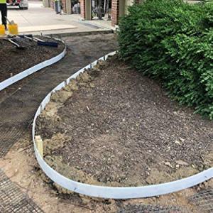 "Plastic Flex Forms for Concrete Flatwork & Curbs Set (10 4"" x 8' pieces, 4"" x 80' total) Walttools"