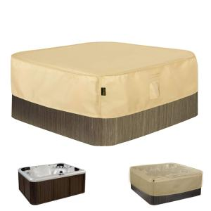 "Hentex Square Hot Tub Cover Outdoor SPA Covers (86"" Lx86 Wx14 H)"