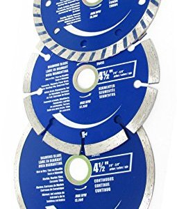 ROK 4-1/2 inch Diamond Saw Blade Set, Pack of 3