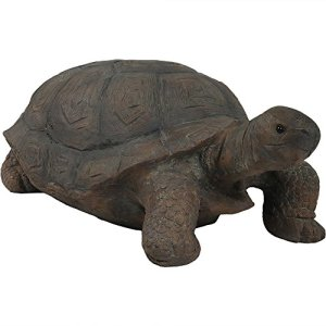 Sunnydaze Todd The Tortoise Garden Statue, Large Indoor/Outdoor Yard Decoration, 30 Inch Long