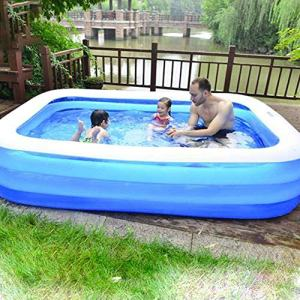AILAAILA 10pcs Inflatable Pool, Family Inflatable Swimming Pool for Baby, Kiddie, Kids, Adult, Infant, Toddlers Outdoor, Garden, Backyard, Summer Water Party