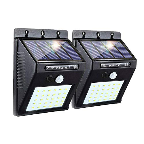 Joyathome Upgraded Solar Sensor Lights Outdoor 30 LED Wireless Waterproof Security Solar Motion Sensor Lights for Patio, Deck, Yard, Garden with Motion Activated Auto On/Off (2 Pack)