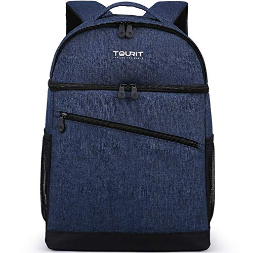 TOURIT Insulated Backpack Cooler Leak-Proof Backpack Lunch Box 28 Cans Double Deck Cooler Backpack for Men Women to Beach, Boat, Hiking, Picnics or Day Trips
