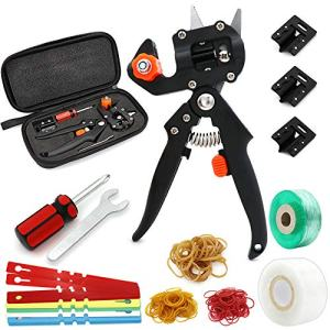 ZALALOVA Garden Grafting Tools, Garden Pruning Tools Grafting Tapes Rubber and Tag Card, Plant Branch Vine Fruit Tree Cutting Tool Kits Scissors