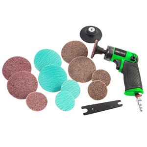 OEMTOOLS 24417 Heavy Duty Mini Air-Powered Surface Prep Sander Kit | Orbital Sander for Prepping Home & Auto Surfaces for Painting | Connects to Standard Air Compressor Tube | Sanding Heads Included