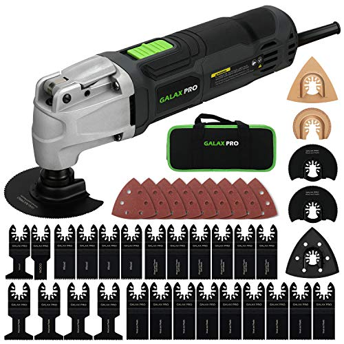 GALAX PRO 2.4Amp 6 Variable Speed Oscillating Multi-Tool Kit with Quick-Lock accessory change, Oscillating Angle:4°, 40pcs Accessories and Carry Bag