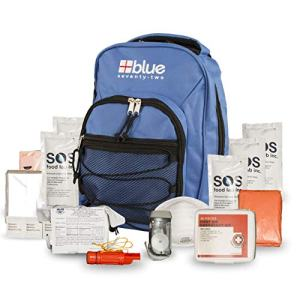 Blue Coolers Blue Seventy-Two | 72 Hour Emergency Backpack Survival Kit for 1 Person | Survival Kit for Roadside, Earthquakes, Tornado, Hurricane, and Other Emergencies…
