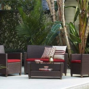 Cosco Outdoor Living 88529BRDE Malmo Furniture Set, Brown